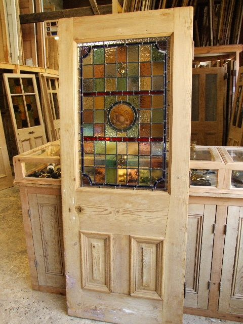 Original Victorian Stained Glass Front Door - Stained Glass Doors Company  More - Original Victorian Stained Glass Front Door - Stained Glass Doors