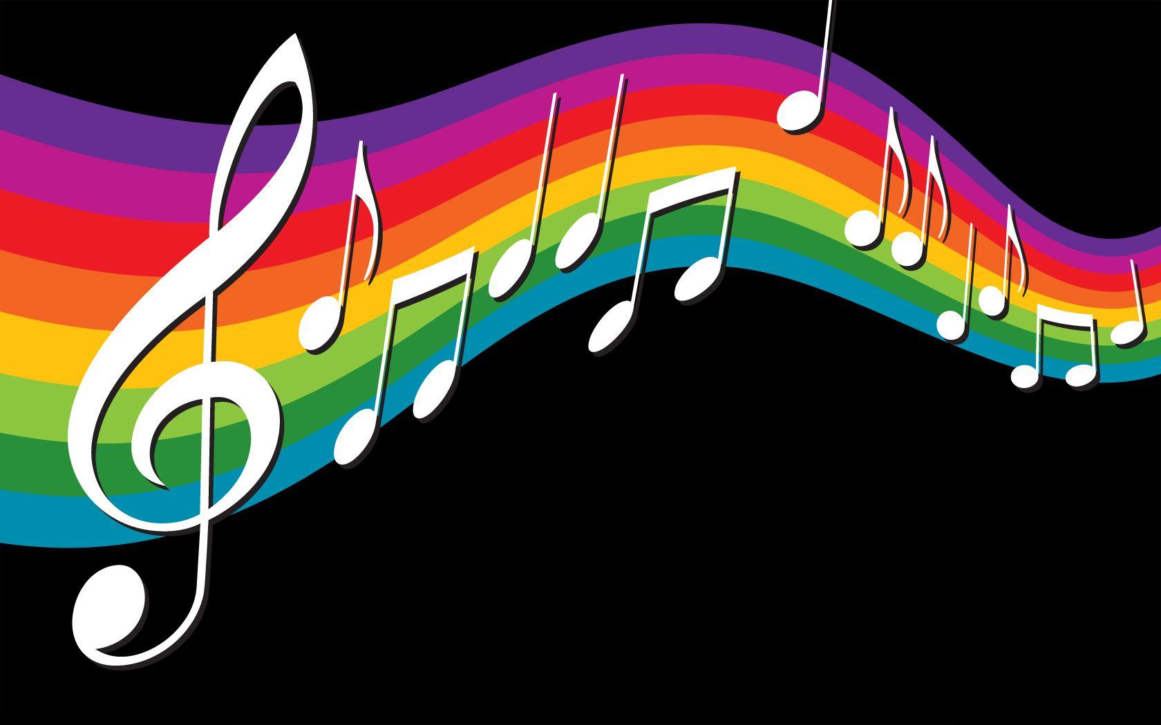 8589130490590 Rainbow Music Notes Wallpaper Hd Jpg