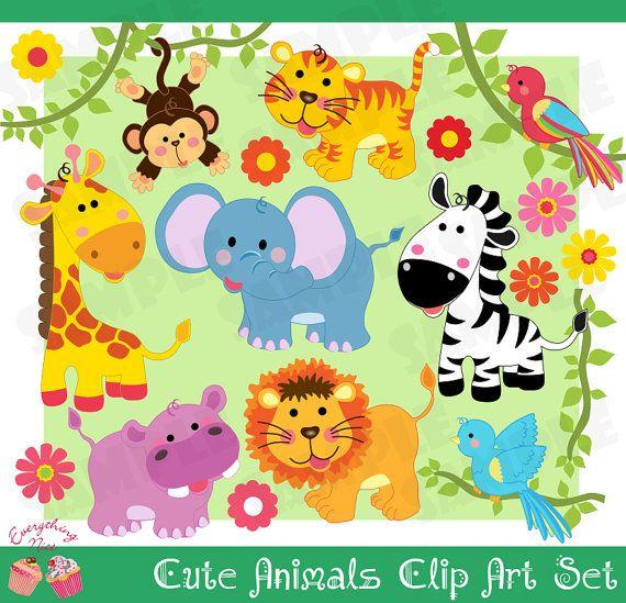 Cute Animals, safari de selva   baby shower   Pinterest   Selvas ...