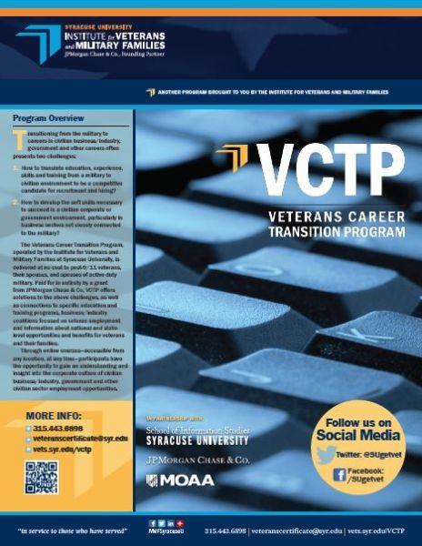Veterans Career Transition Program (VCTP) | Veterans: Post ...