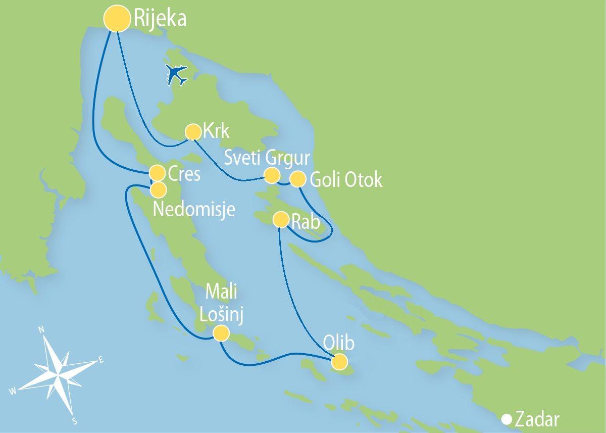 Kroatien Blaue Reise Ab Bis Rijeka Kroatien Reisen Urlaub