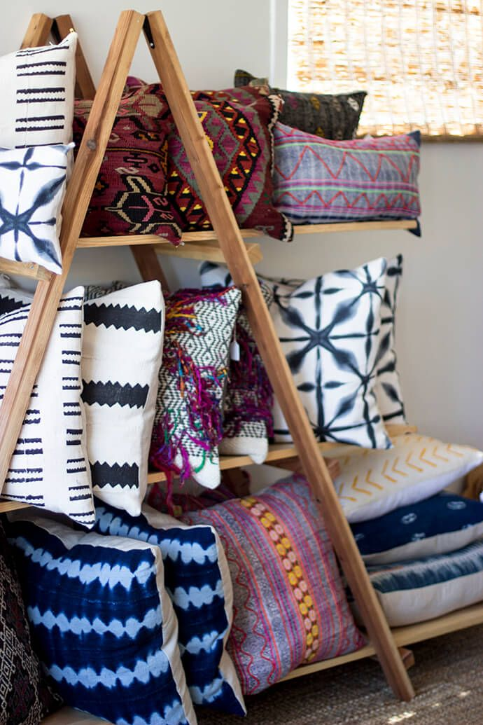 Bohemian Throw Blankets Step Inside Vanessa Matsalla's Beautiful Boho Studio  Boho Pillows