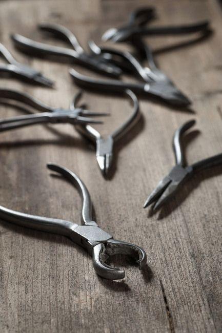 Various pliers in workshop