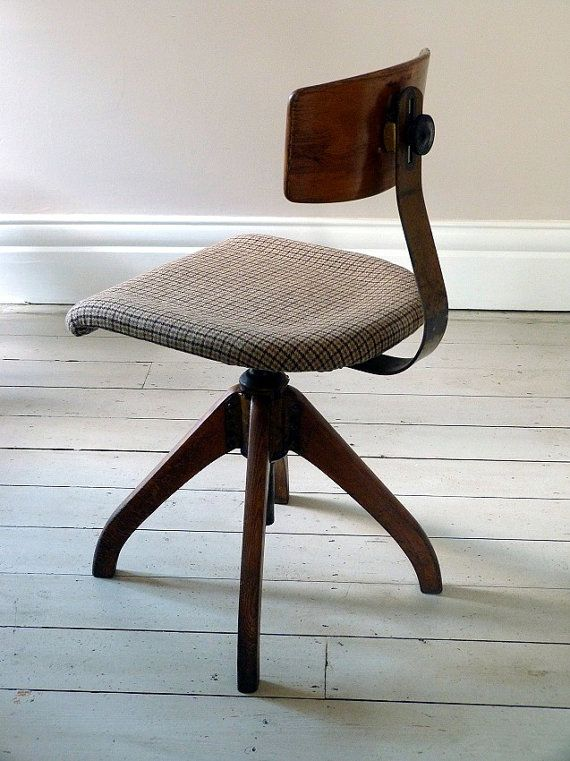 Vintage Architects Desk Chair / Office Chair by OrmstonSaintUK