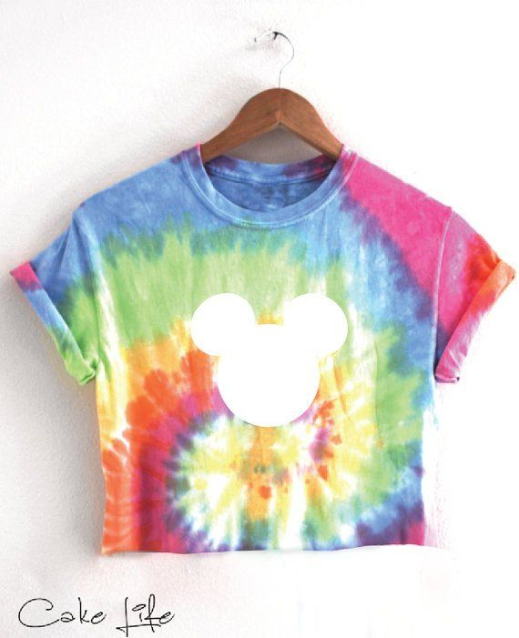 ec1a713890dad Tie Dye Mickey T shirt or Cropped T-Shirt By Cake Life®   Rave ...
