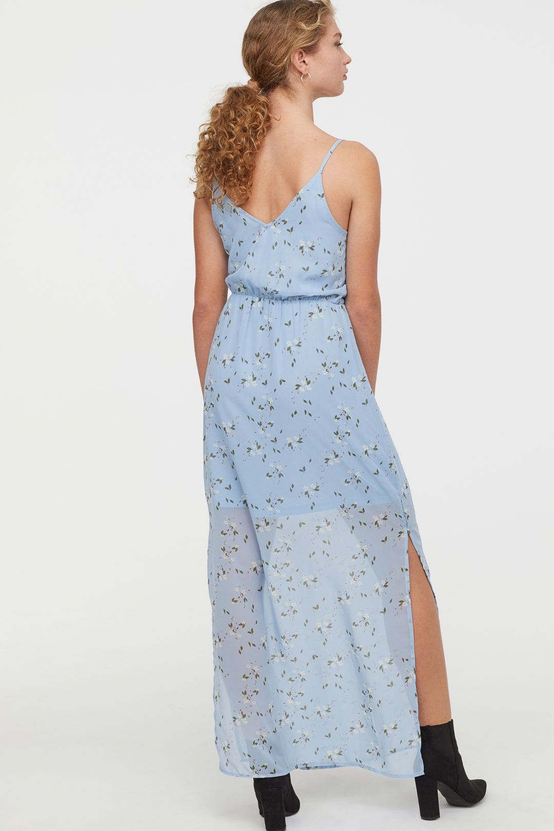 7f164c7384e H&M Chiffon Maxi Dress - Blue in 2019 | Wish List | Chiffon maxi ...