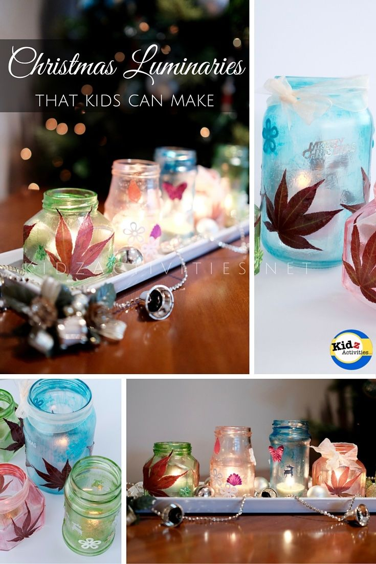 Christmas Craft Gift Ideas For Toddlers Part - 43: DIY Christmas Luminaries - Kidz Activities