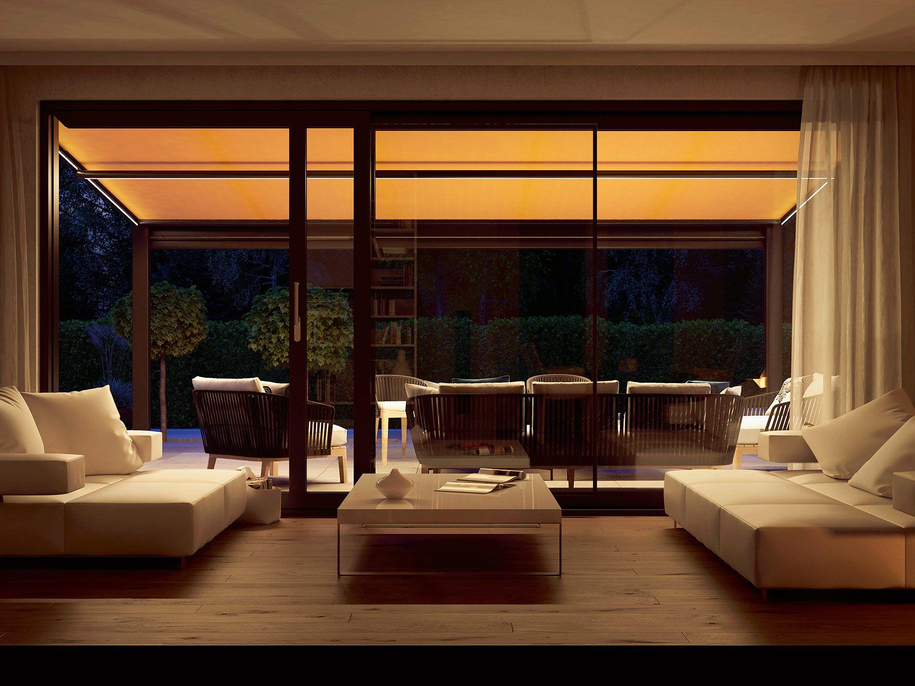 unser kleines planetarium abends schauen wir von der terrasse in die sterne und dank - Fantastisch Modernes Wohnzimmer Am Abend