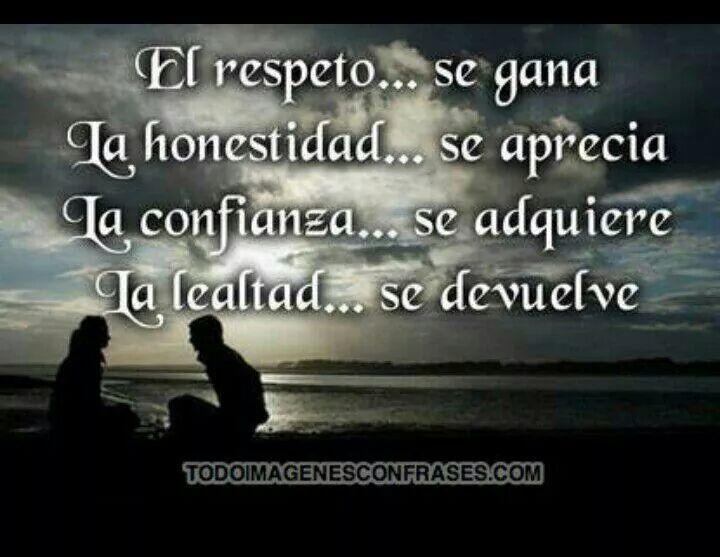 Respeto Honestidad Confianza Y Lealtad Imagenes De Lealtad Lealtad Frases Lealtad