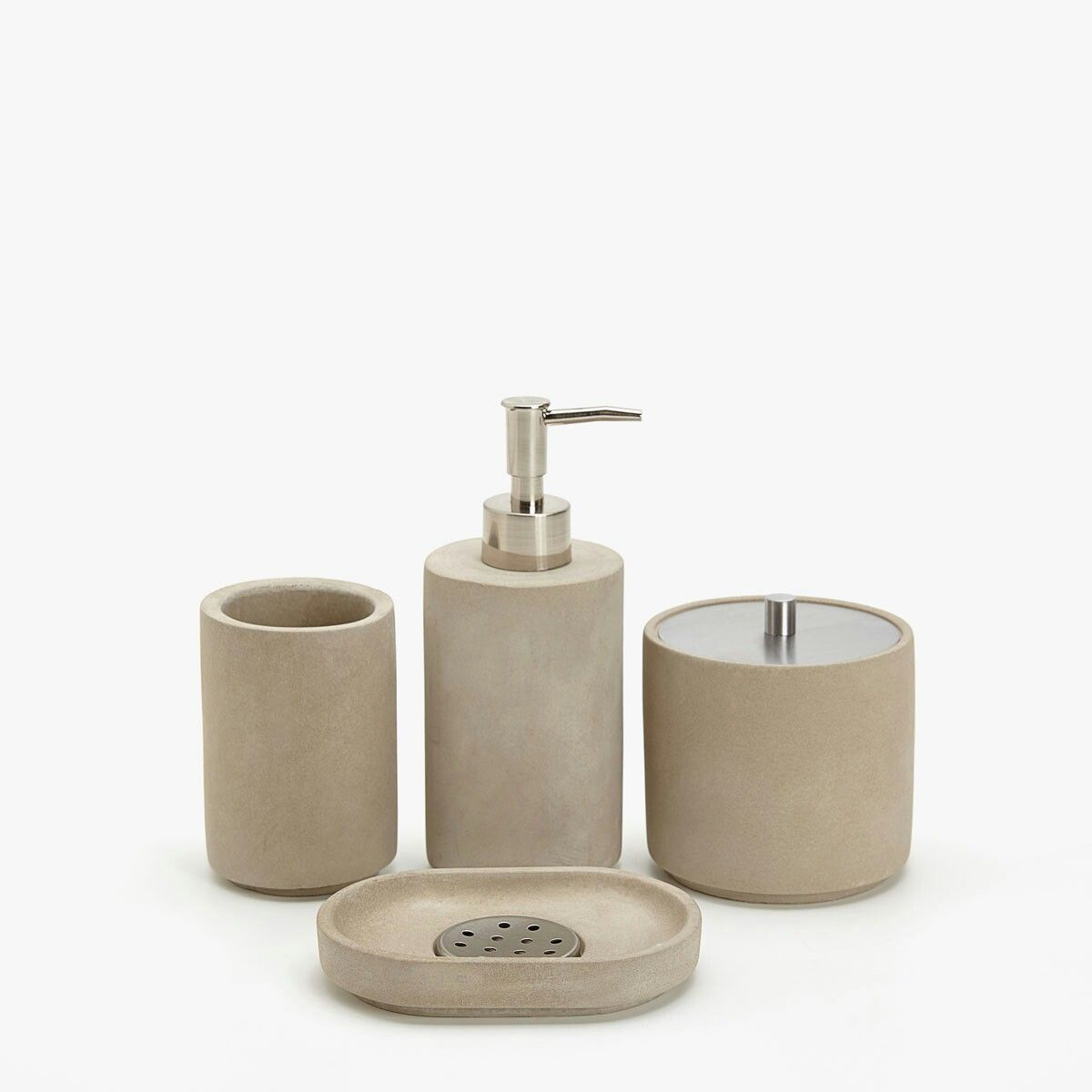 Ensemble accessoires salle de bain ZARA HOME en ciment. https ...