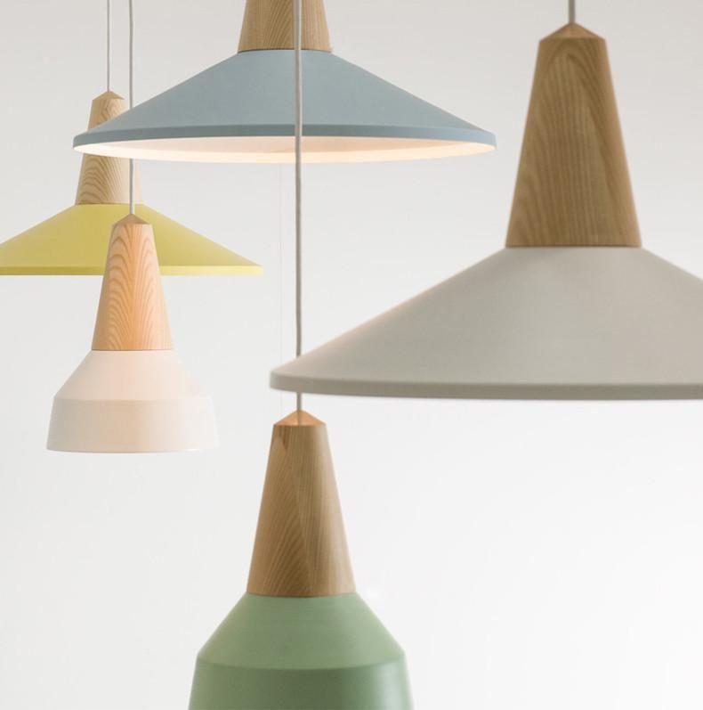 Lundlund Minimalist Scandinavian Wooden Pendant Light Ceiling Light Cement Clean Wooden Pendant Lighting Scandinavian Lighting Simple Lighting