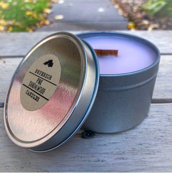 Sandalwood Scent | Pink Sandalwood | Scented Candle | 8oz Candle | Wood Wick Candle #scentedcandles
