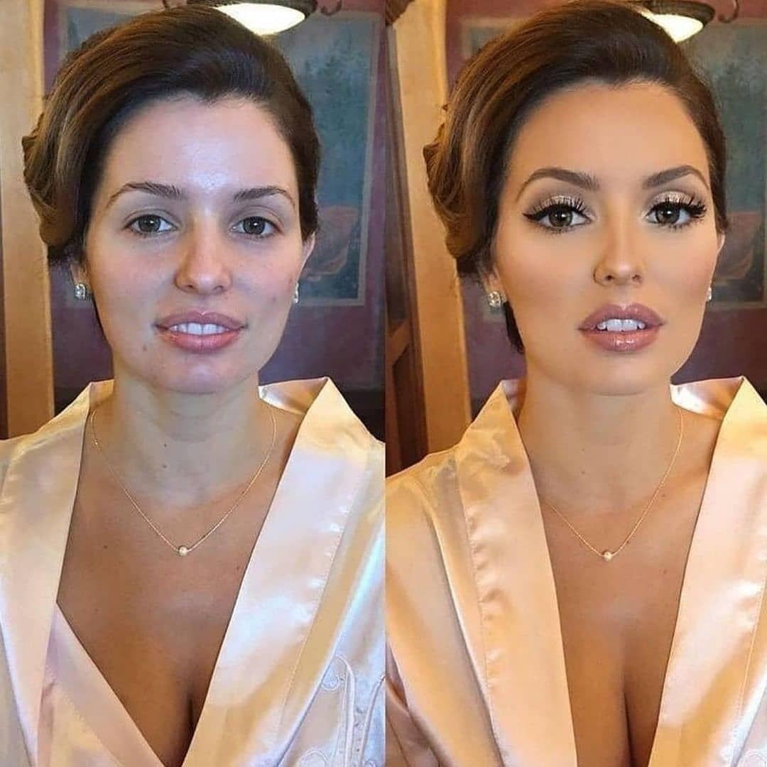 Antes E Depois De Cair O Queixo B Maquiagem Casamento