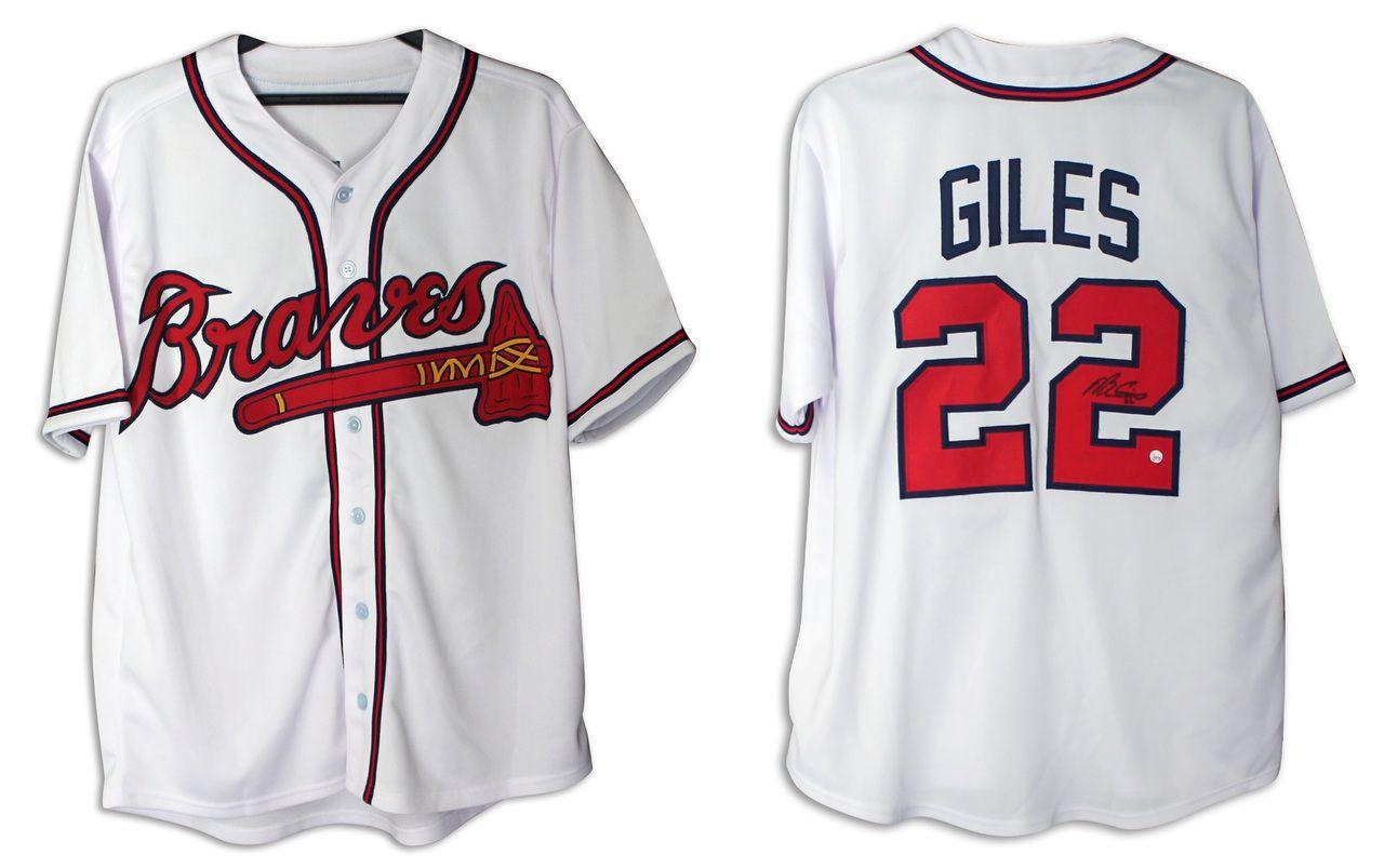 Marcus Giles Atlanta Braves Autographed White Jersey With Coa White Jersey Atlanta Braves Atlanta