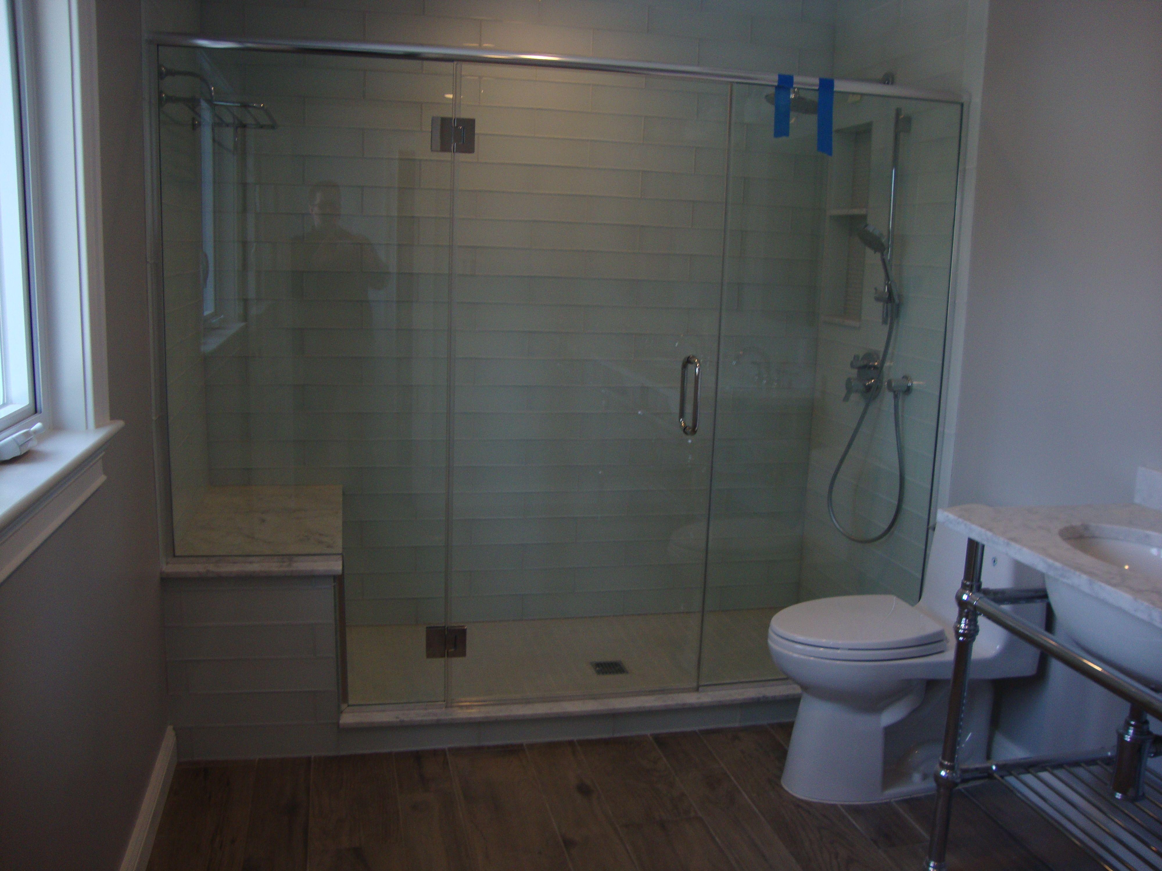 Eco friendly interior design master bathroom preliminary photos locust valley eco for Eco friendly bathroom remodel