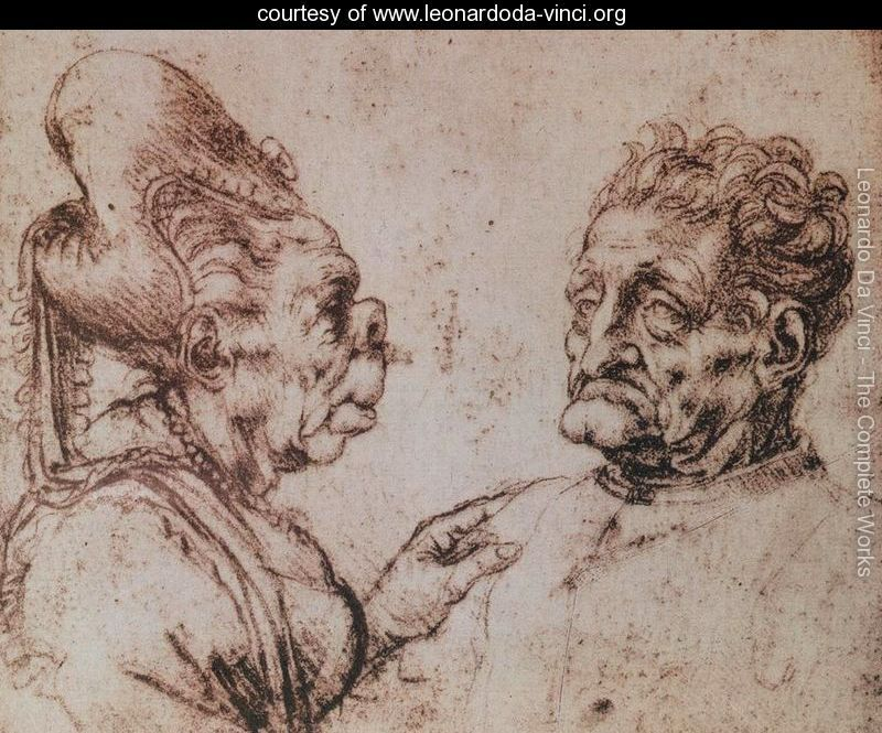 Contour Line Drawing Leonardo Da Vinci : Las caricaturas de leonardo da vinci caricatures drawings and