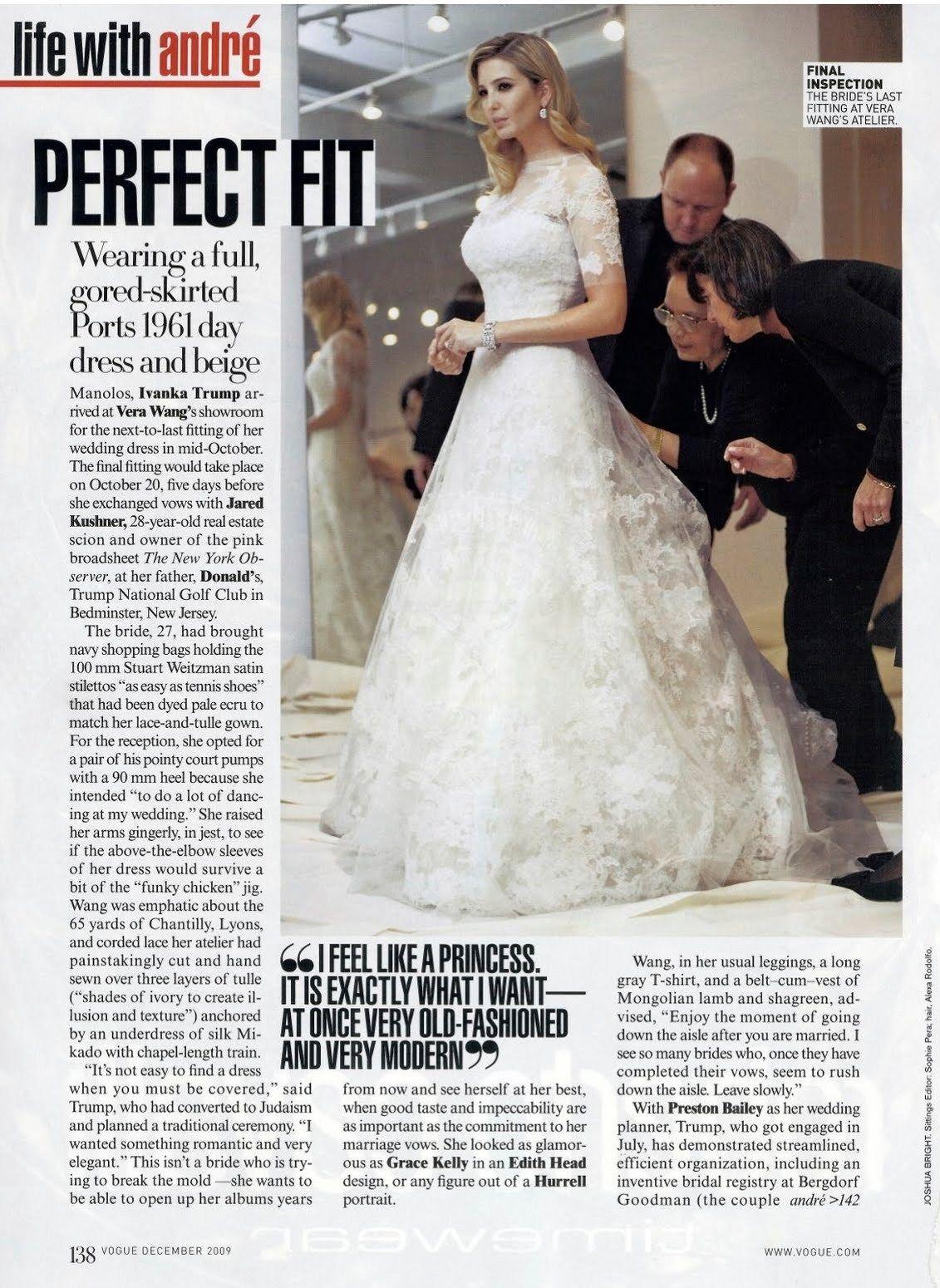 Ivanka Trump Wedding Dress By Vera