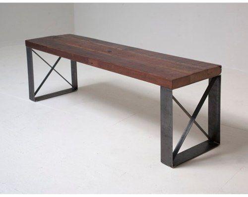 estanteria madera hierro. mesa ratona banqueta silla consola ...