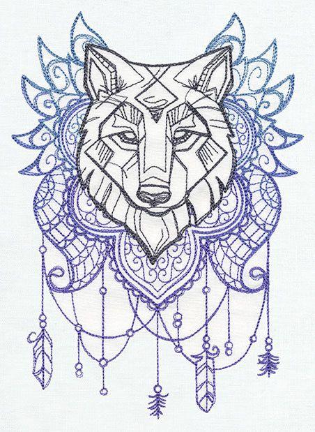 Juego de tronos inspirado lobo polar manta por ValentineEmbroidery