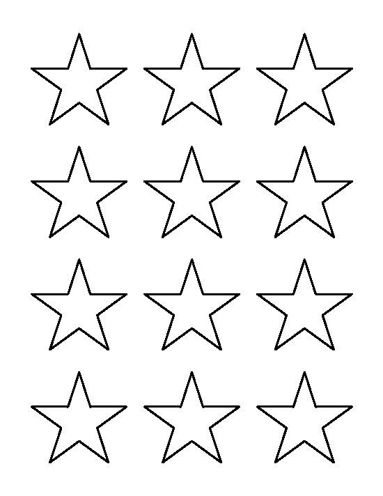 Star Outline Images 2 Inch Star Pattern Use The Printable Outline