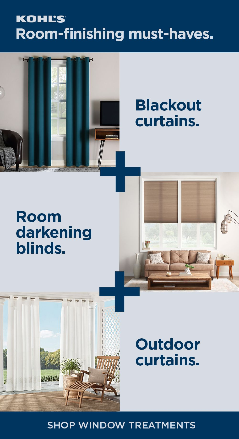 Shop Window Treatments At Kohl S From Blackout Curtains And Room