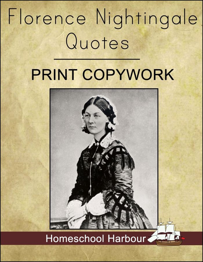 Florence Nightingale Quotes Florence Nightingale Quotes Print Copywork Notebook  Homeschool