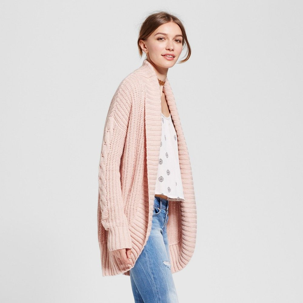 Women's Chunky Cocoon Cardigan - Mossimo Supply Co. Pink Xxl ...