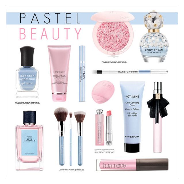 """Pastel Beauty"" by lgb321 ❤ liked on Polyvore featuring beauty, Deborah Lippmann, MAC Cosmetics, Prada, Sigma, Givenchy, Yves Saint Laurent, Laura Mercier, By Terry and Elemis"