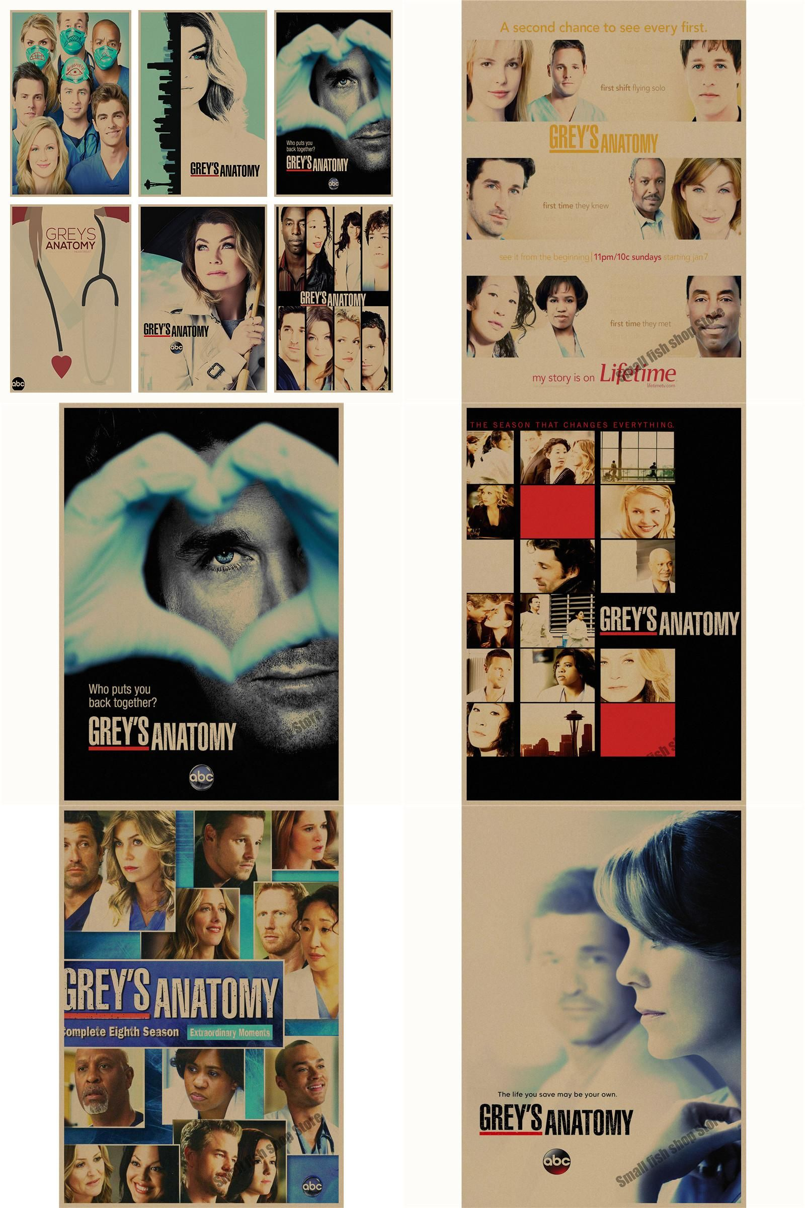 Visit To Buy Greys Anatomy Movie Retro Poster Retro Kraft Paper