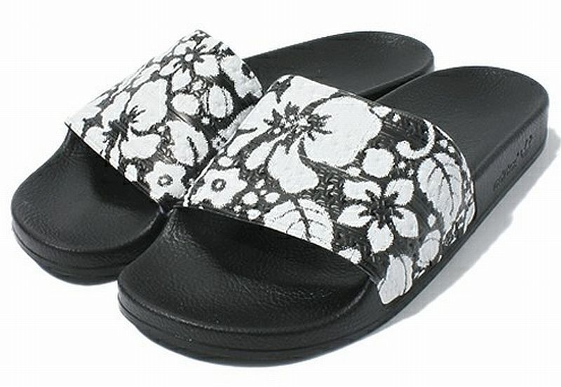 Adidas Adilette Hawaii Black White Sports Sandals Flip