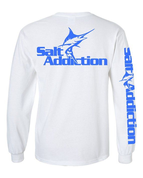 Salt Addiction long sleeve saltwater tuna fishing t shirt offshore ocean