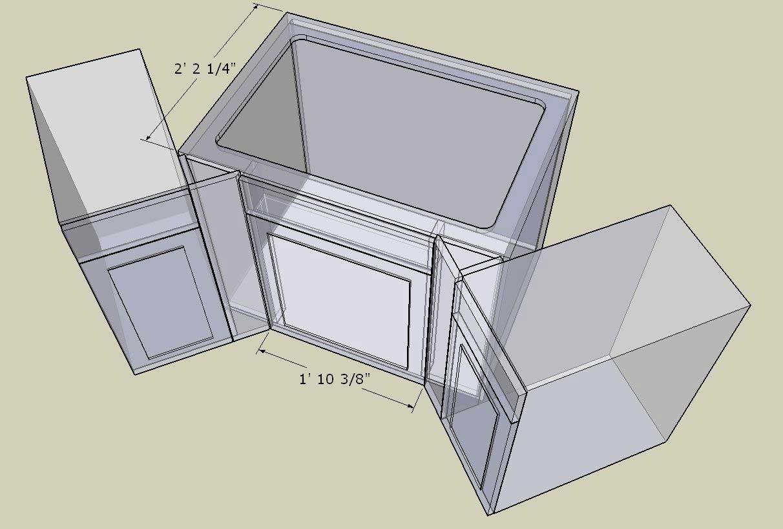 Kitchen Corner Sink Cabinet Dimensions   Popular Mechanics Kitchen ...