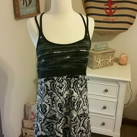 Summer black and grey dress New without tag never worn, just tried on. Wrong size. Dresses