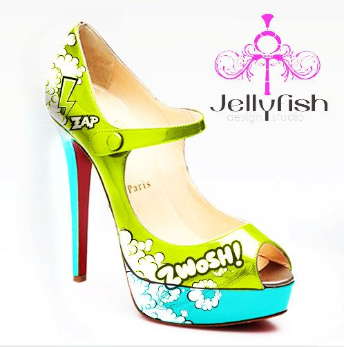 Hand-painted-  Christian Louboutin
