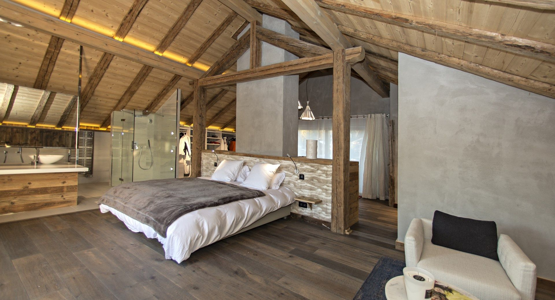 chalet vieux bois r nov recherche google chambre. Black Bedroom Furniture Sets. Home Design Ideas