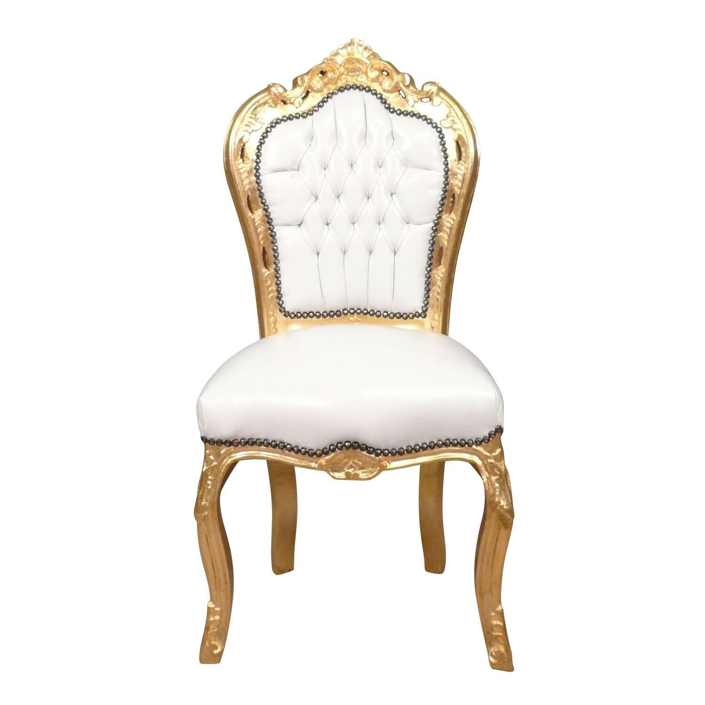 Chaise Baroque Banche En Bois Massif Dore Mobilier Blanc Baroque Chaise Baroque Mobilier De Salon Et Chaise
