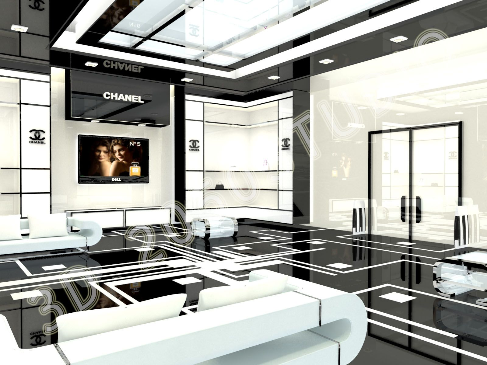 chanel boston store interior - Google Search | Chanel | Pinterest ...
