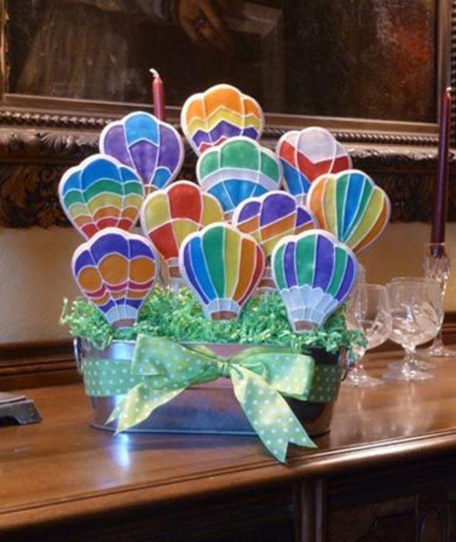 Hot Air Balloon Cookie Bouquet Hot air balloon cookies