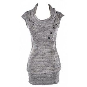 Gray Draped Cowl Neck Sweater Dress, $40 | Major Wardrobe Pieces ...