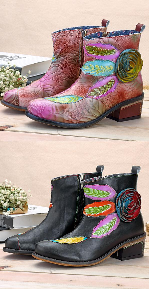SOCOFY Handmade Shoes On Newchic