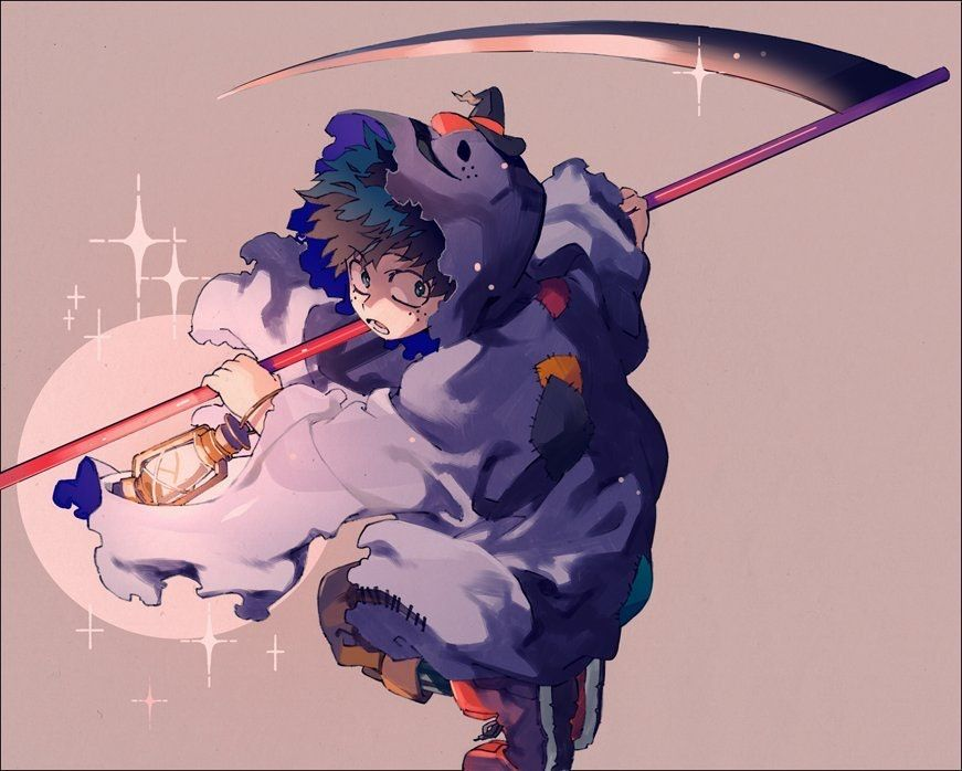 Midoria Halloween My Hero Anime Hero Wallpaper