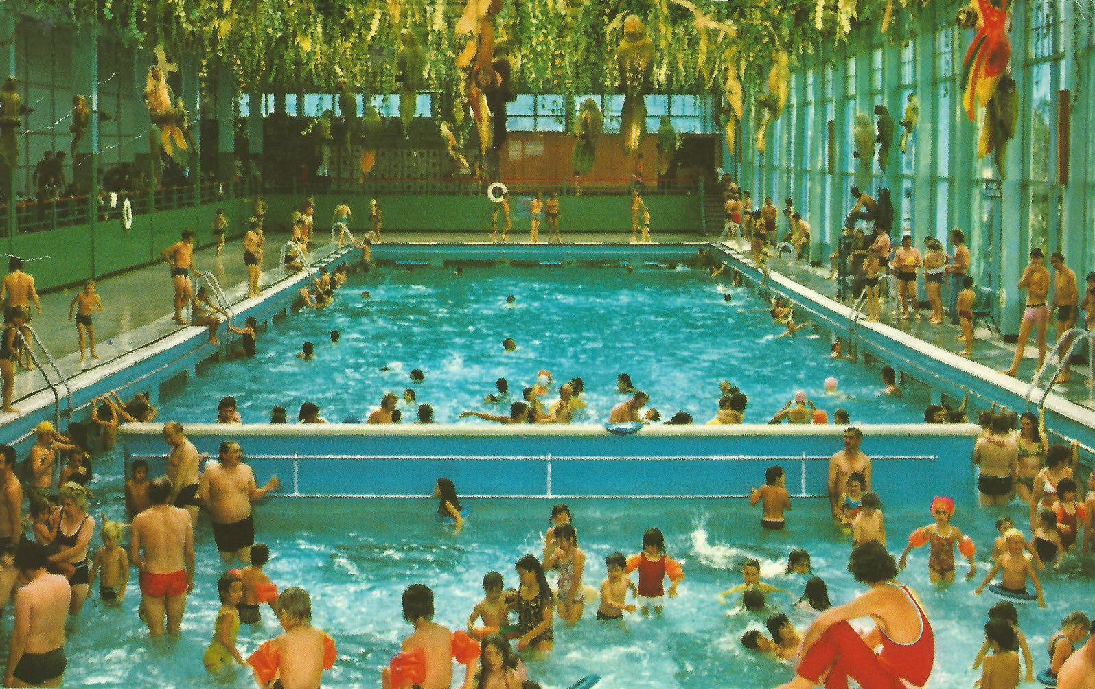 The Heated Indoor Pool At Butlinu0027s Minehead Holiday Camp In 1975.