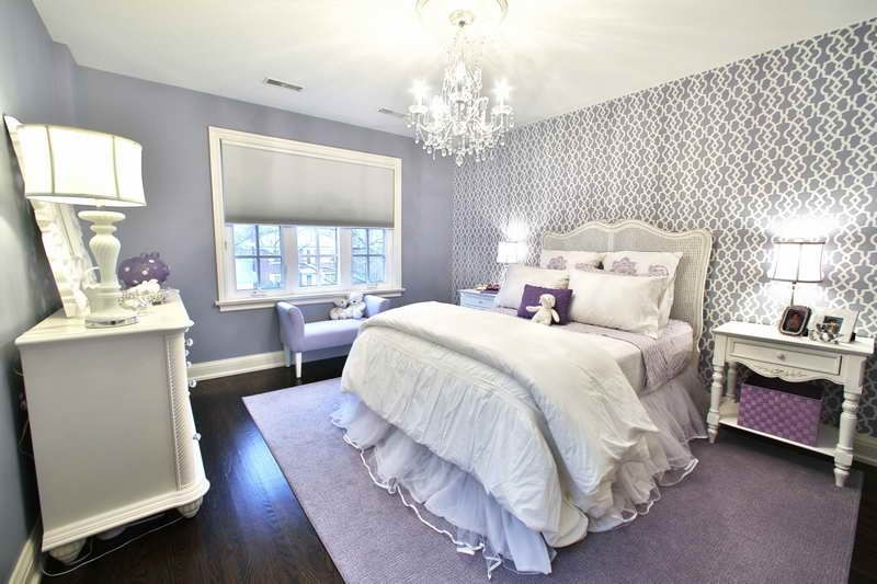 Decorating With Purple Teenage Girl Room Decorating