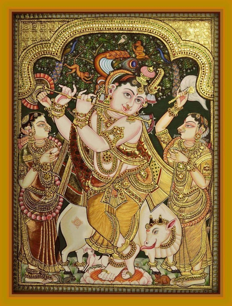 54 Tanjore art ideas in 2021   tanjore painting, mysore painting, art