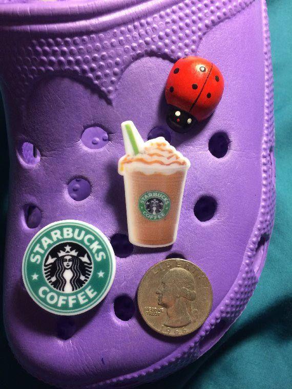 7e27c4e6e STARBUCKS Star Bucks Caramel Macchiato Mocha   Coffee LOGO Clog Shoe Charms