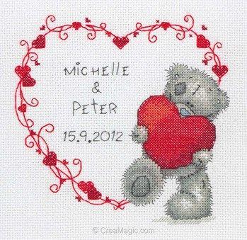 Me To You - celebration heart kit tableau point de croix ...