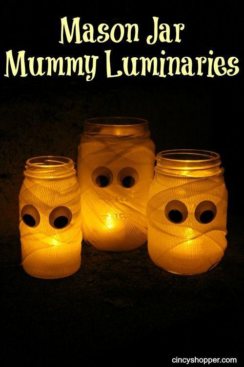 Photo of Dollar Store DIY Mason Jar Mummy Luminaries – CincyShopper