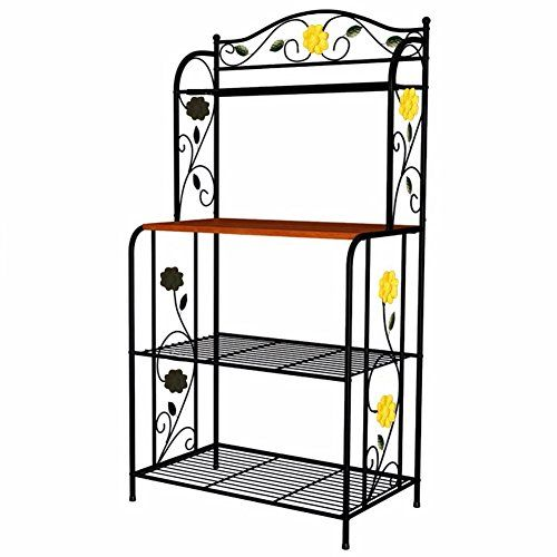 Okeler 3 Tier Microwave Cart Shelving Rack Made With Steel And