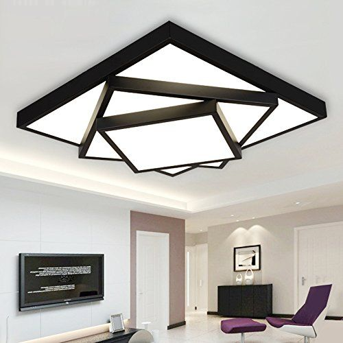 Led Ceiling Light Living Room Master Bedroom Light Modern 3 Storey Rectangular Shaped Lam Master Bedroom Lighting Ceiling Lights Living Room Led Ceiling Lights