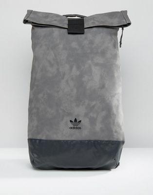 86b25d961b7e adidas Originals Roll-Up Backpack In Grey AY9353
